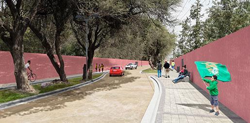 Diseño urbano calle Tierra Prometida