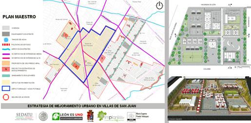 Urban plan for Villas de San Juan area. Leon, Gto.
