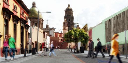 Guadalupe promenade, Celaya, Gto.